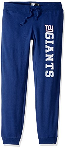NFL New York Giants Women's Ots Fleece Pants, X-Large, Royal