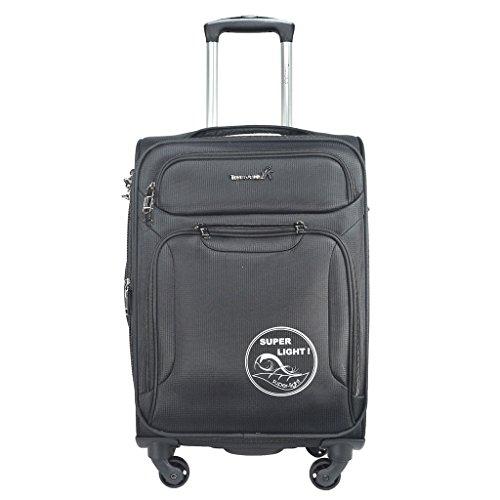 TRAWORLD Polyester 20 Inch 4 Wheel Trolley Bag  Grey