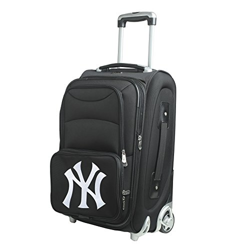 MLB New York Yankees In-Line Skate Wheel Carry-On Luggage, 21-Inch, (21' Expandable 2 Wheel)