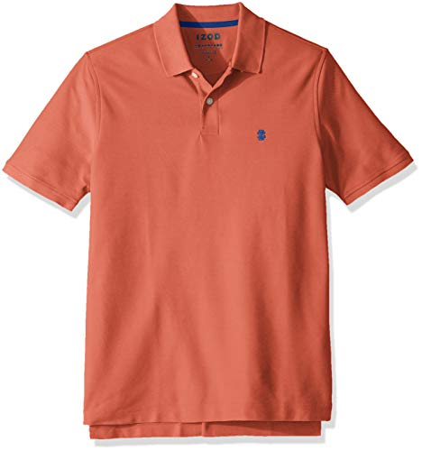 IZOD Men's Advantage Performance Polo Shirt, Saltwater Red, -