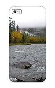 Fashionable QERUhKu7856TzFmR Iphone 5c Case Cover For River Earth Nature River Protective Case