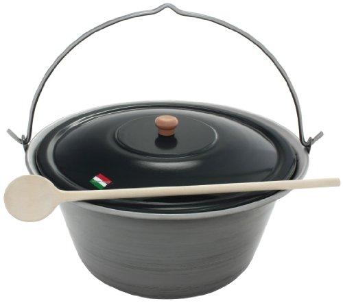 Grillplanet® Gulaschkessel 22 Liter Eisen und Deckel, original in Ungarn hergestellt