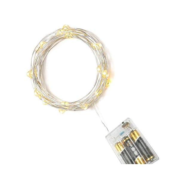 Stringa Luci LED Batteria, 2 Pacchi 4M 40 LEDs Catena Luminosa, Luci Natale Impermeabili per Natalizie Decorazioni Interni ed Esterni (Bianco Caldo) 5 spesavip