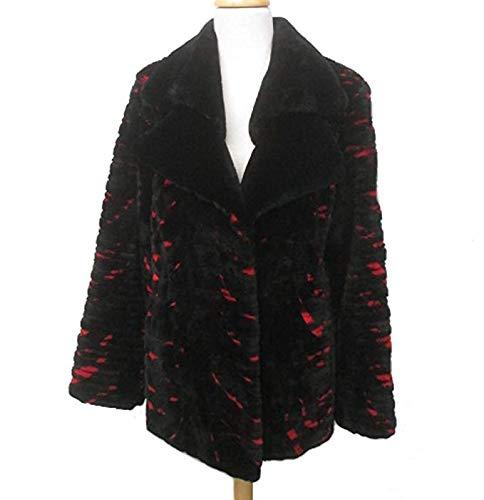 (Women's Size 8 New Black Red Sheared Mink Fur Coat Jacket Stroller)