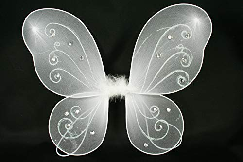 DPC White Butterfly Fairy Costume Wings 17
