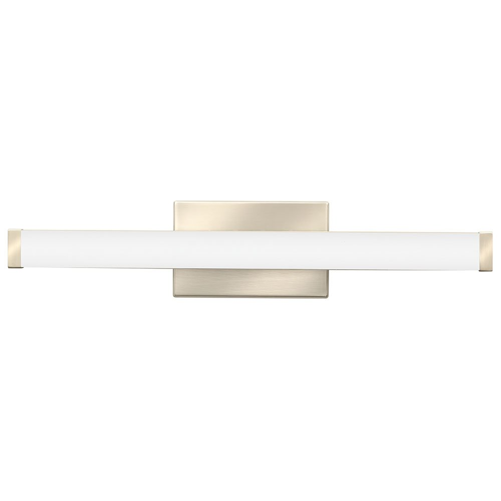 Lithonia Lighting Contemporary Square 3K LED Vanity Light, 2-Foot, Brushed Nickel