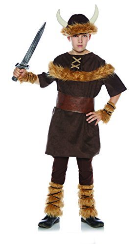 Underwraps Little Boy's Little Boy's Viking Costume Set Childrens Costume, Brown, Large -