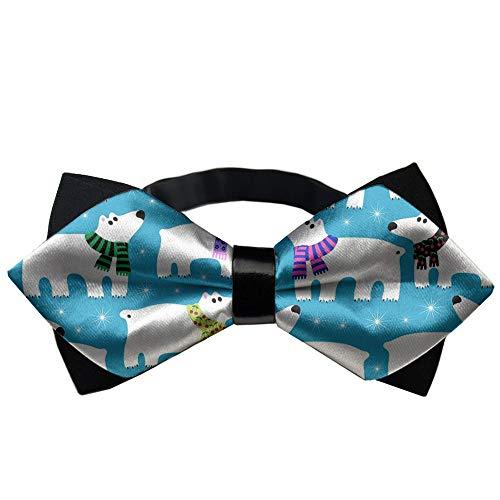 MrDecor Polar Bear Bow tie pre-Tied Pattern Multi-Colors Unisex Shape -