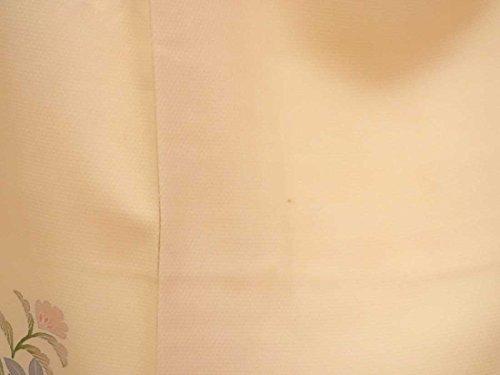 リサイクル訪問着 / 正絹ピンク地花柄袷訪問着着物 / レディース【裄Mサイズ】(付下 中古訪問着 中古付下 中古 リサイクル着物)【ランクC】