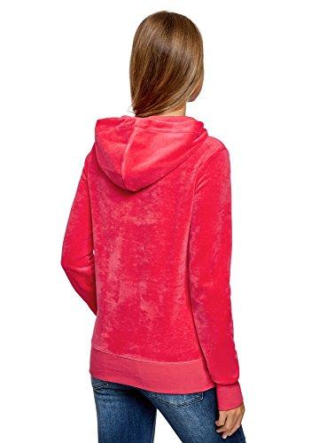 Capucha 4d00n Bolsillo Mujer Rosa Ultra Sudadera Y Con Básica Oodji UfXTqn