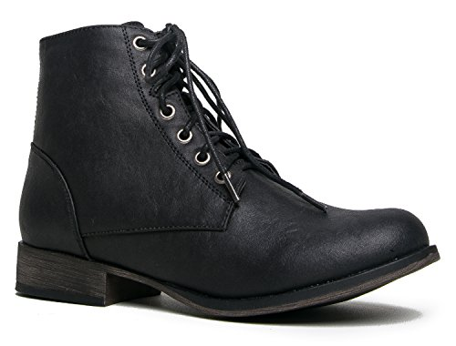 Breckelles Womens Georgia 43 Leather Combat product image