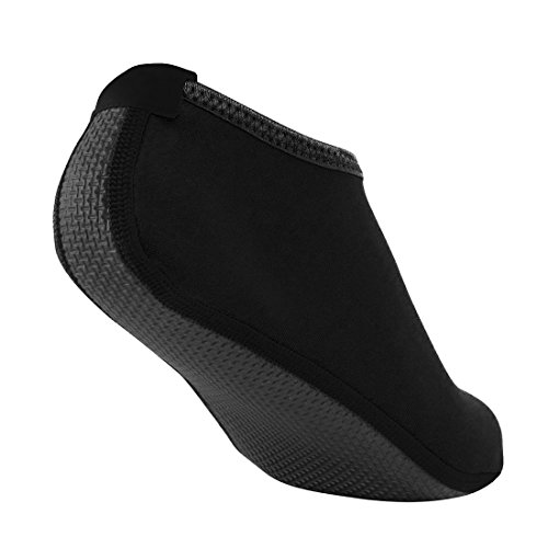 Nlife Barfuß Wasser Schuhe Aqua Socken für Beach Surf Pool schwimmen Yoga Aerobic (Männer & Frauen, M-XXL) Schwarz