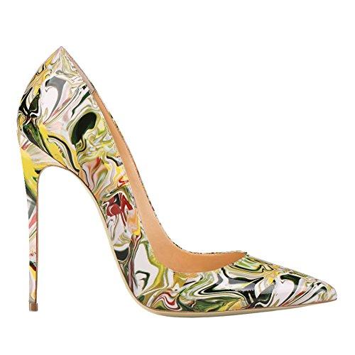 EKS - Zapatos de Tacón Mujer Amarillo - amarillo