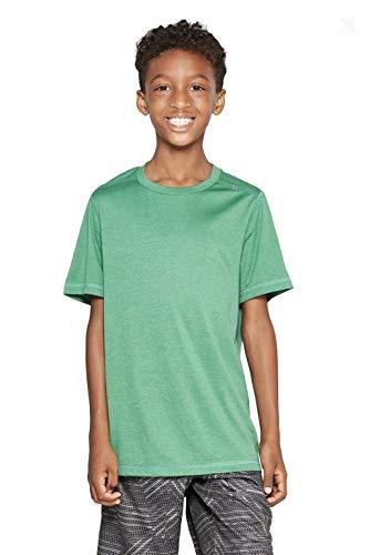 Champion C9 Boys' Performance Tech T-Shirt - (Green Heather, M - Tee Tech Champion Boys