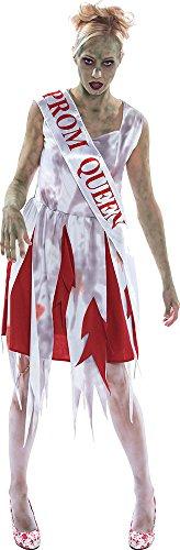 Sportsgear US Women's Halloween Zombie Fancy Dress Party Horror Prom Queen Costume Outfit -
