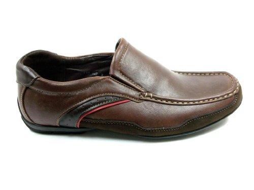 Cas-902 Casual Slip Sur Mocassin Confort Mocassins Chaussures Marron