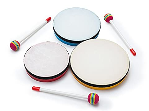 3-Piece Hand-Drum Set for Kids – Three-Piece Hand Drum Instruments with Bag – Three Sizes of Hands Drums, Fun Musical Toys for Kids, Perfect for Learners or soon-to-be - Keyboard Mallet Bag