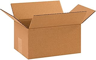 "product image for Partners Brand P1075 Corrugated Boxes, 10""L x 7""W x 5""H, Kraft (Pack of 25)"