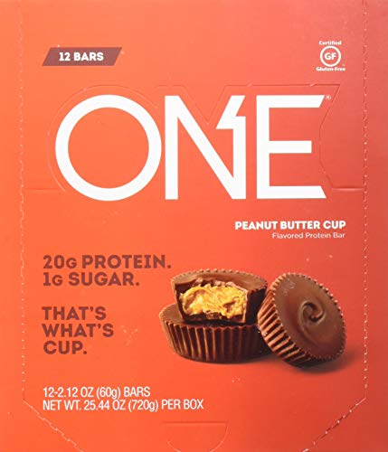 One Protein Bar, Peanut Butter Cup, 12 Count (Pack of 6)