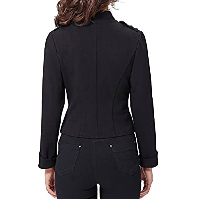 Kate Kasin Womens Victorian Steampunk Ringmaster Jacket Military Blazer at Women's Clothing store