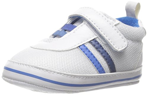 Little Me Baby-Boys Newborn Athletic Shoe with Velcro Strap, Blue, 0-6 Months