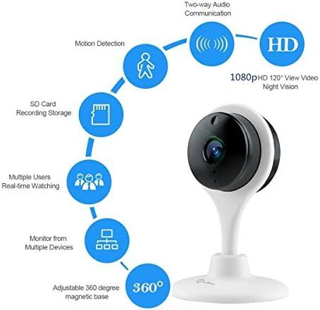 DEMU 720P HD C/ámara IP inal/ámbrica de seguridad para el hogar con visi/ón nocturna App Control
