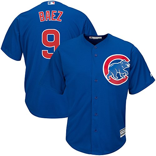 - Majestic Javier Baez Chicago Cubs MLB Youth Blue Alternate Cool Base Replica Jersey (Youth Medium 10-12)