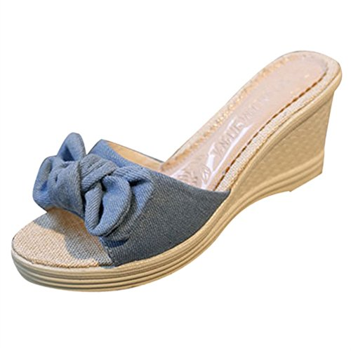 cc2b41f870 Women's Bowknot Slippers, WuyiMC Fashion Women Simple Sandals Slippers  Ladies Shoes delicate