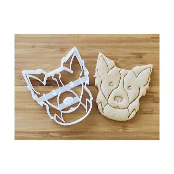 Border Collie Cookie Cutter and Dog Treat Cutter - Dog Face 2