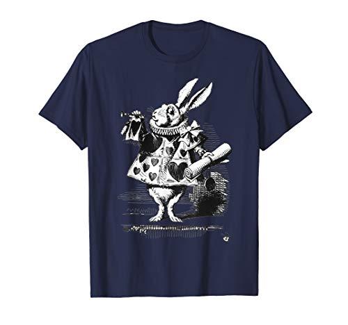 Easter Bunny Shirt White Rabbit Alice In Wonderland Gift -