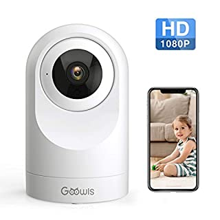 WiFi Camera Indoor, Goowls 1080P HD Pan/Tilt Home Camera Wireless Security Dog Camera IP Camera for Baby/Pet/Nanny Monitor Night Vision Motion Detection Two-Way Audio Works with Alexa Cloud Service