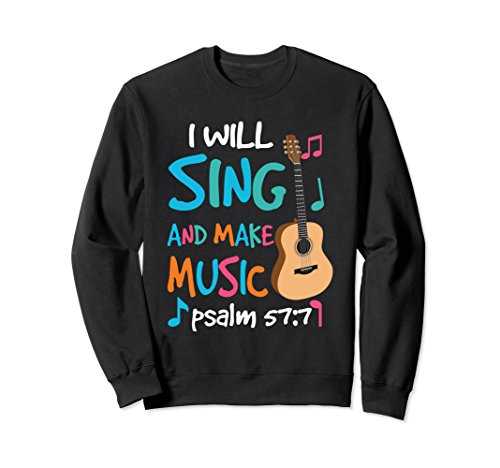 Christian Rock Guitar Sweatshirt Religion Church Music Gift