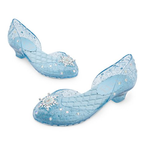Disney, Frozen Elsa Shoe For Kids Girls for costume, fancy dress --- UK Size 7-8 . USA size 9/10 , EU Size 24-26 by (Frozen Costume Elsa Uk)