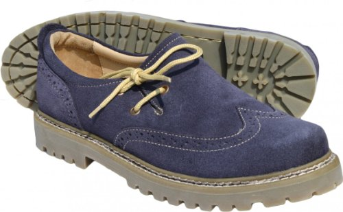 Trachtenschuhe Haferlschuhe Brogue echtem Leder Oktoberfest Schuhe Blau-Violett