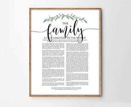 TimPrint The Family Proclamation Print LDS Family Proclamation Modern Family Proclamation LDS Print LDS Art Framed Print Wall -