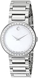 "Movado Women's 0606421 ""Concerto"" Diamond-Accented Stainless Steel Watch"