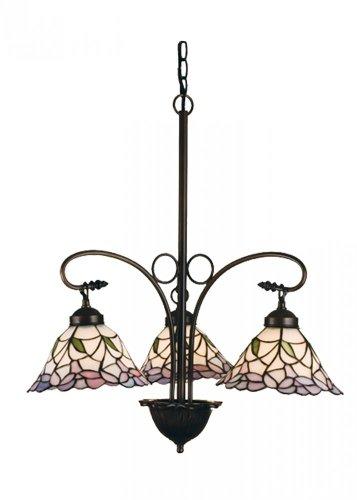 3 Bell Light (Meyda Tiffany 27419 Daffodil Bell 3 Light Chandelier, 23.75