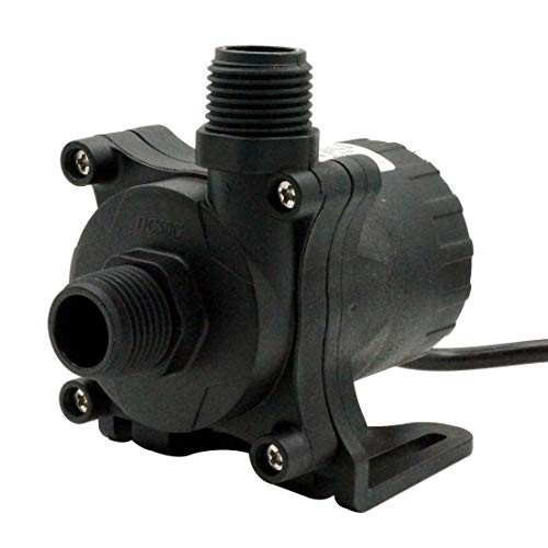 24V DC Water Pump 630GPH Inlet&Outlet 3/4 Inches 20mm NPT 60 Threads Static Head 26ft High Temperature Resistance Brushless Submersible Pump Aquarium Garden Fountain Pump for Solar Panel DC50G-2480S