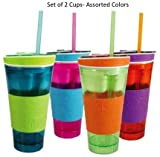 Snackeez Cup Assorted Colors 2 Pack