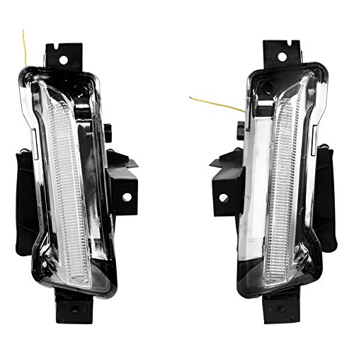 Fog Lights Compatible With 2016-2019 Chevy Camaro   ZL1 DRL Daytime Running Light Fog Lamps Clear No Turn Signal Function 2Pc ABS PC by IKON MOTORSPORTS   2017 2018 (Camaro Chevy Zl1)