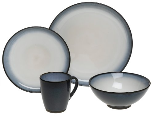 Sango Concepts Eggplant 16-Piece Dinnerware Set, Service for 4