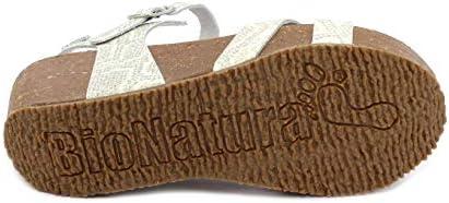 BioNatura Sandalo 24 FREGENE Pulsar Bianco Taglia 40 - Colore Bianco