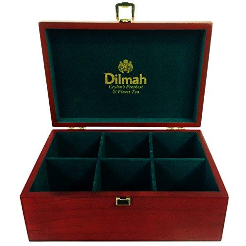 Dilmah | Luxury Wooden Tea Presenter | Tea Chest | Gourmet 6 slot tea Server | total of 60 tea bag holder | Tea not included | Tea Chest Only