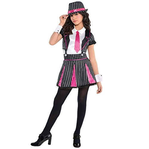 amscan Girls Mob Doll Gangster Costume - Medium (8-10), Multicolor]()