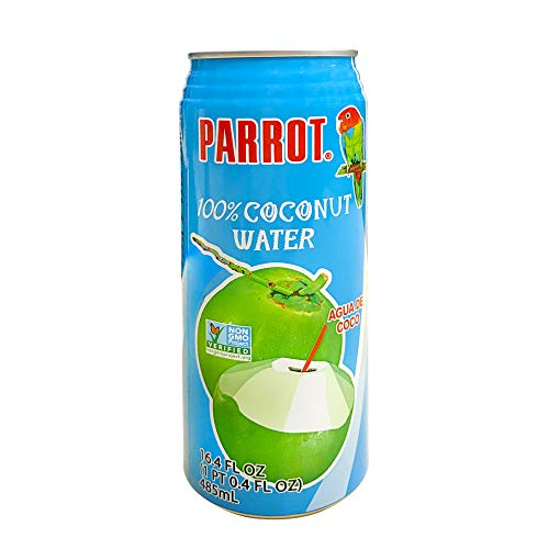Parrot Brand Coconut Water No Pulp 16.4 fl. oz.(Pack of 12)