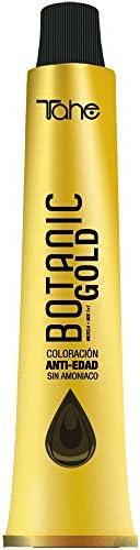 Tahe Botanic Gold Tinte Cabello Profesional/Tinte Pelo/Coloración Capilar Permanente Sin Amoniaco Nº 7 Rubio Medio, 100 ml