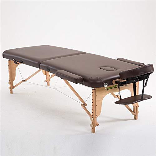 MASODHDFX 70 cm de Ancho 2 Cama de Mesa de Masaje de Madera Plegable con Estuche de Transporte Muebles de salón Plegable portátil tailandés Cuerpo SPA Mesa de Masaje Cama de Tatuaje,D por MASODHDFX