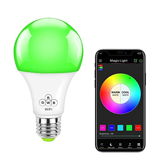 (MagicLight WiFi Smart Light Bulb, 50w Equivalent Dimmable Multicolored Full Spectrum Bulb - Compatible with Alexa & Google Home Assistant)