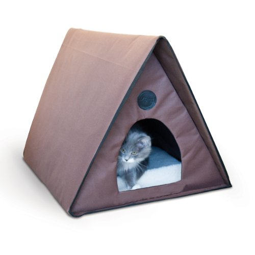 K&H Pet Products Outdoor Multi-Kitty A-Frame Unheated Chocolate 35 X 20.5 X 20 Inches