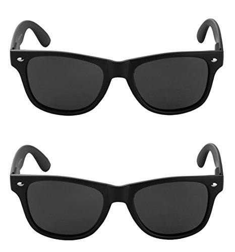 unglasses for Men and Women Sunglasses (Large, 2 Matte Black) (Body Specs Black Sunglasses)